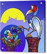 When You Sleep In A Stork's Nest ...  Acrylic Print by TJ Ballew