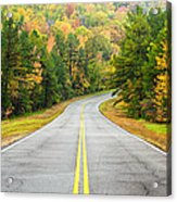 Where This Road Will Take You - Talimena Scenic Highway - Oklahoma - Arkansas Acrylic Print by Silvio Ligutti