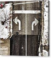 Which Way Acrylic Print by Margie Hurwich