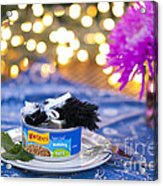 Whiskers Special Birthday Pate Acrylic Print by Juli Scalzi