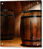 Whisky Barrel Acrylic Print by Olivier Le Queinec