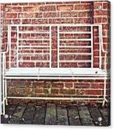 White Bench Acrylic Print by Tom Gowanlock