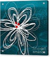White Flower Acrylic Print by Linda Woods