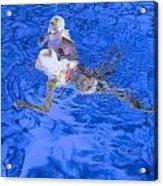 White Hair Blue Water 4 Acrylic Print by Dietrich ralph  Katz