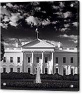White House Sunrise B W Acrylic Print by Steve Gadomski