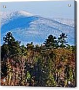 White Mountains Acrylic Print by Skip Willits