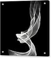 White Smoke Acrylic Print by Matthew Angelo