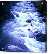 White Water Acrylic Print by J D Owen
