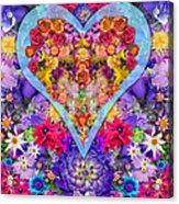 Wild Flower Heart Acrylic Print by Alixandra Mullins