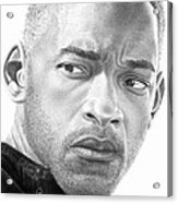 Will Smith Acrylic Print by Marvin Lee
