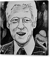 William Jefferson Clinton Acrylic Print by Jeremy Moore