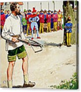 William Tell, From Peeps Into The Past Acrylic Print by Trelleek