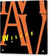 Willie Mays Acrylic Print by Ron Regalado