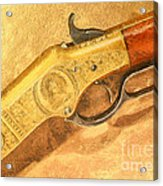 Winchester 1866 Yellow Boy Rifle Acrylic Print by Odon Czintos
