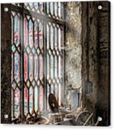 Window Decay Acrylic Print by Adrian Evans