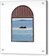 Window View Of Desert Island Puerto Rico Prints Acrylic Print by Shawn O'Brien