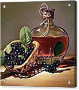 Wine And Berries Acrylic Print by Natasha Denger