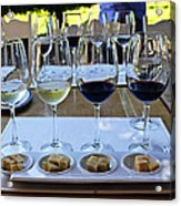 Wine And Cheese Tasting Acrylic Print by Kurt Van Wagner