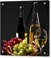 Wine And Grapes Acrylic Print by Elena Elisseeva