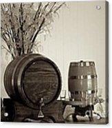 Wine Barrels Acrylic Print by Alanna DPhoto
