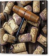 Wine Corks Celebration Acrylic Print by Garry Gay