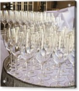 Wine Glasses Acrylic Print by Dee  Savage