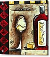Wine Tasting Original Madart Painting Acrylic Print by Megan Duncanson