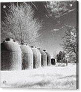 Wine Vats Rutherglen Acrylic Print by Linda Lees