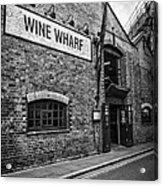 Wine Warehouse Acrylic Print by Heather Applegate