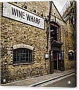 Wine Wharf Acrylic Print by Heather Applegate