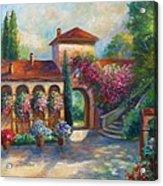Winery In Tuscany Acrylic Print by Regina Femrite