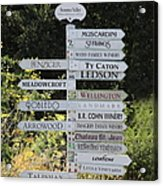 Winery Street Sign In The Sonoma California Wine Country 5d24601 Square Acrylic Print by Wingsdomain Art and Photography