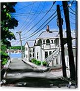 Winslow Street Acrylic Print by Jean Pacheco Ravinski