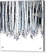 Winter Aspens  Acrylic Print by Michael Swanson