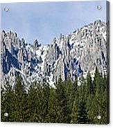 Winter At Castle Crags Acrylic Print by Loree Johnson