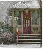 Winter - Dreaming Of A White Christmas Acrylic Print by Mike Savad