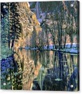Winter Falls Acrylic Print by Bill Gallagher