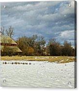 Winter Farm Acrylic Print by Steve McKinzie