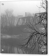 Winter Fog Acrylic Print by Bob Orsillo