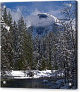 Winter In The Valley Acrylic Print by Bill Gallagher