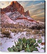 Winter In Zion National Park Utah Acrylic Print by Utah Images