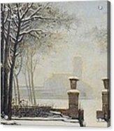 Winter Landscape Acrylic Print by Alessandro Guardassoni