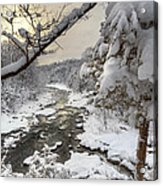 Winter Morning Acrylic Print by Bill Wakeley