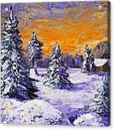 Winter Outlook Acrylic Print by Anastasiya Malakhova