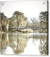 Winter Reflection Landscape Acrylic Print by Julie Palencia