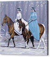 Winter Ride Acrylic Print by John Silver