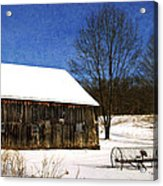 Winter Scenic Farm Acrylic Print by Christina Rollo