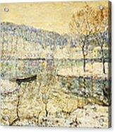 Winter Stream Acrylic Print by Ernest Lawson