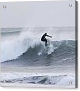 Winter Surfing Acrylic Print by Tim Grams