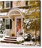 Winter - Westfield Nj - It's Too Early For Winter Acrylic Print by Mike Savad